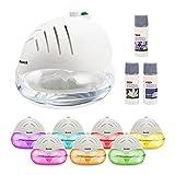 Luftreiniger und Ionisierer mit farbveränderndem LED Licht und 3 kostenlosen Düften