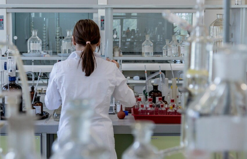 Schimmeltest in einem Labor