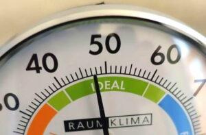 optimale Luftfeuchtigkeit laut Hygrometer